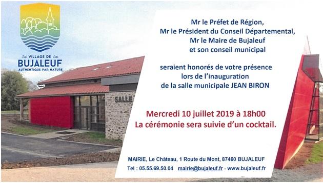 Inauguration Salle Municipale Jean BIRON